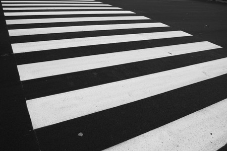 Zebra - pedestrian road crossing area Stock Photo - 4421880
