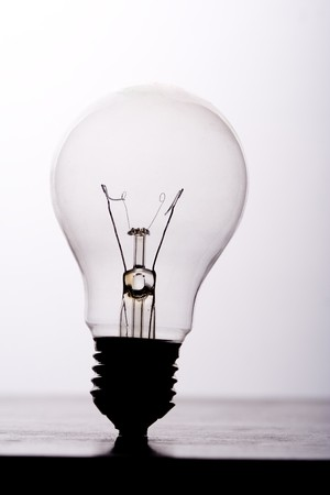 bad idea: Broken light bulb. Bad idea concept