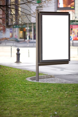 Blank street ad billboard. Public advertising space for promotion purpouse