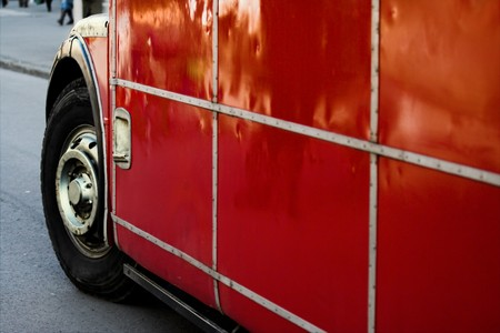 Red london bus. Double decker - english bus. Transport concept Stock Photo - 4420919