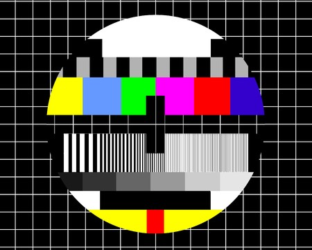 No signal - Television test screen  photo