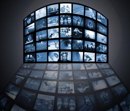 TV panels. Television media production technology Stock Photo - 4423046