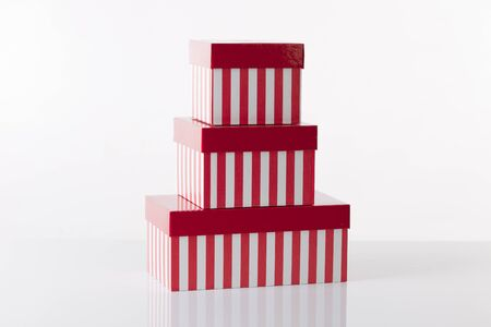 Collection of red gift boxes Stock Photo - 10936325