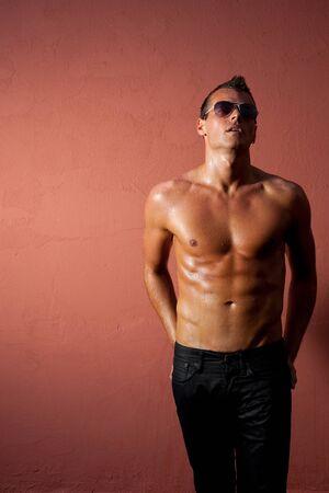 handome young man posing  Sexy male body Stock Photo - 14824046