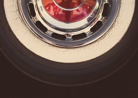 Real retro tire, withe vintage look editing Stock Photo - 16082216