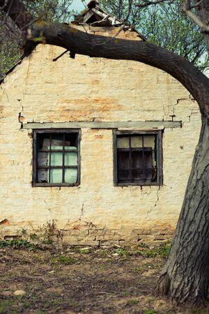 Two window abandoned housse
