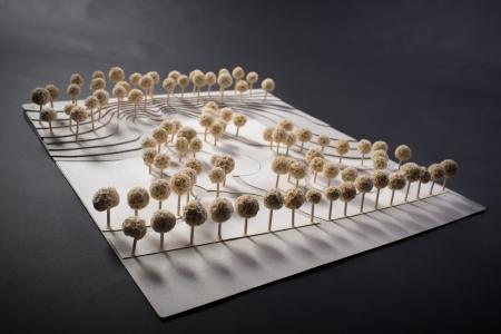 Park , architectural landscaping maquette Standard-Bild