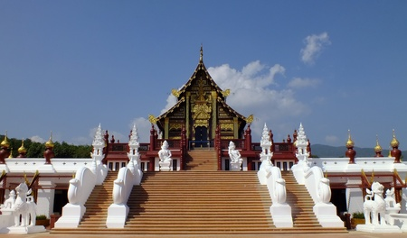 pavillion: Thai royal pavillion in the blue sky Stock Photo