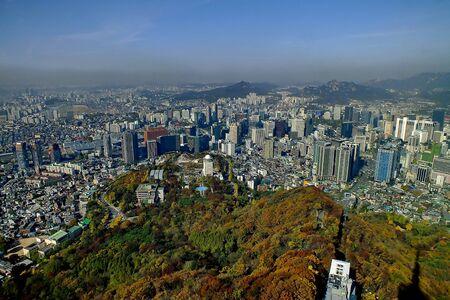 Seoul in the birds eye view photo