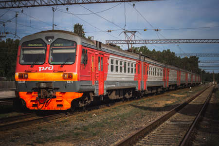 Russian Electric train at the station