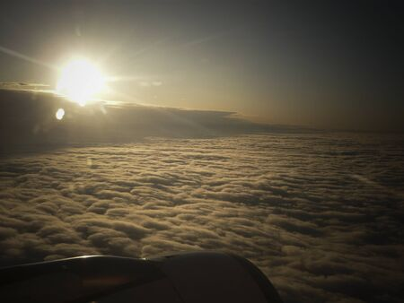 propulsion: clouds from above Stock Photo