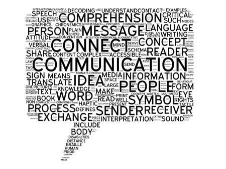 talk bubble: Illustration of communication message information word cloud talk bubble symbol on white background