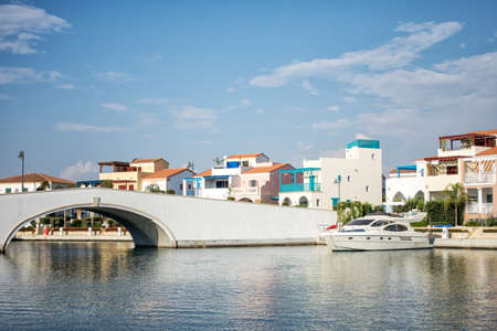 The beautiful Marina in Limassol city in Cyprus.