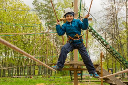 6 years: Boy 6 years passes rope town