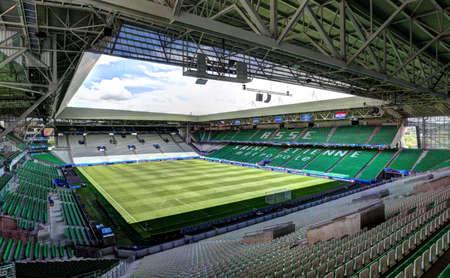 Stadde Geoffroy-Guichard in Saint-Etienne, France. Stadium Geoffroy-Guichard in Saint-Etienne, France.