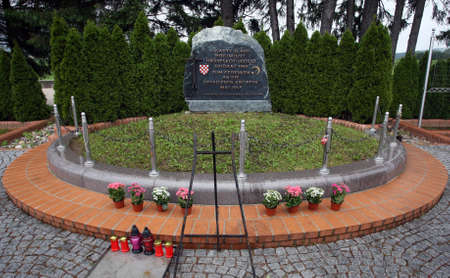 A monument to the fallen Croatian soldiers in Bleiburg, Austria
