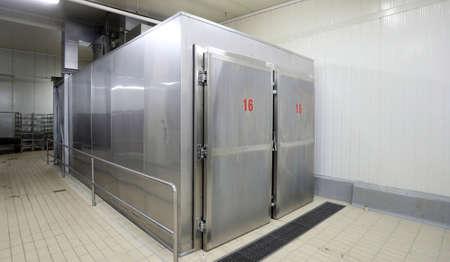 Large metal industrial fridge with number 16 Zdjęcie Seryjne