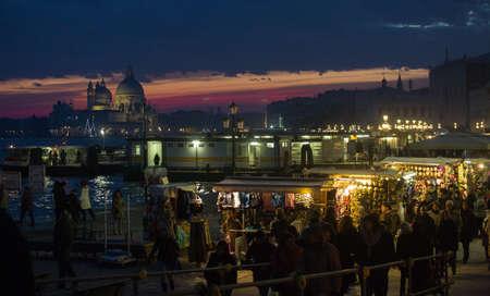 Sunset in Venice, Italy Zdjęcie Seryjne