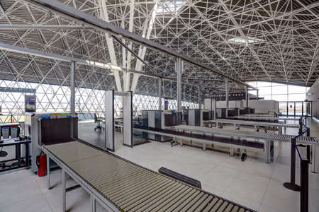 X-ray scanners on the new Terminal of Franjo Tudjman airport in Zagreb, Croatia, 16 March 2017.