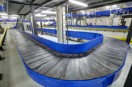 Conveyor belt for luggage in basement of the the new Terminal of Franjo Tudjman airport in Zagreb, Croatia, 16 March 2017. Publikacyjne