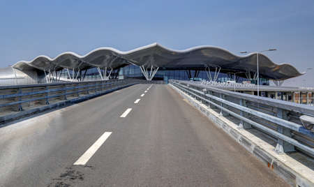 Access road and external view on the new Terminal of Franjo Tudjman airport in Zagreb, Croatia, 16 March 2017.