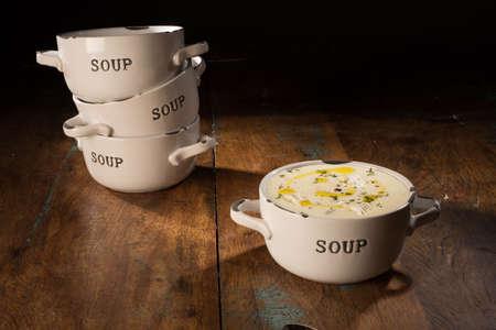 cold soup: Cold Soup Bowl Stock Photo