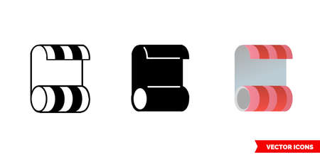 Wallpaper icon of 3 types. Isolated vector sign symbol.