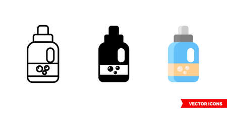 Detergent icon of 3 types. Isolated vector sign symbol. Stock Illustratie
