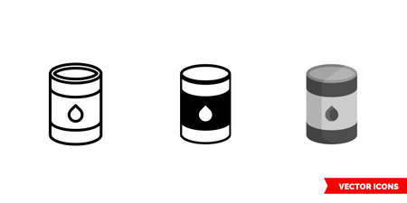 Fuel icon of 3 types. Isolated vector sign symbol.