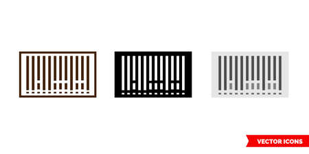 Barcode icon of 3 types. Isolated vector sign symbol.