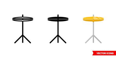 Cymbals icon of 3 types. Isolated vector sign symbol. Illusztráció