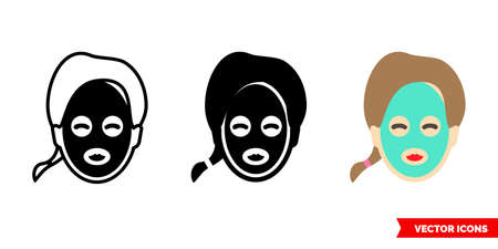 Facial mask icon of 3 types sign symbol.