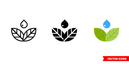 Leaves Nature icon of 3 types. Isolated vector sign symbol.