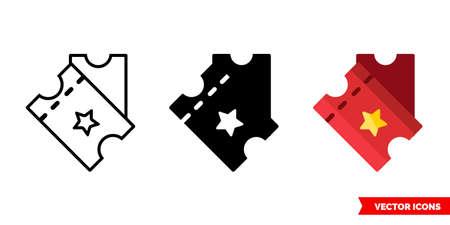 Tickets icon of 3 types. Isolated vector sign symbol. Illusztráció