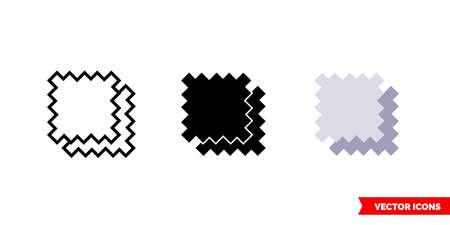 Cloth icon of 3 types. Isolated vector sign symbol. Vektoros illusztráció