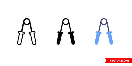 Espander icon of 3 types. Isolated vector sign symbol.