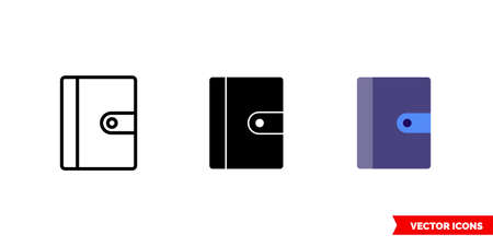 Journal icon of 3 types. Isolated vector sign symbol. Vectores