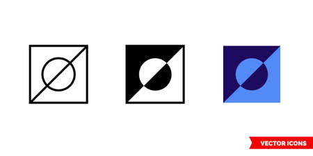 Invert selection icon of 3 types. Isolated vector sign symbol.