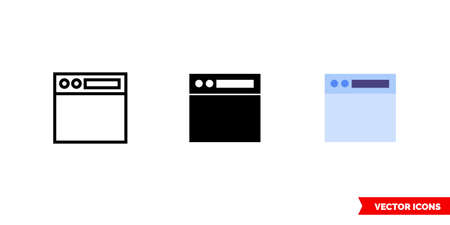 Navigation toolbar icon of 3 types. Isolated vector sign symbol.