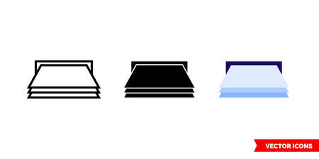 Feed paper icon of 3 types. Isolated vector sign symbol.