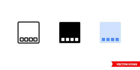 Desktop icon of 3 types. Isolated vector sign symbol.