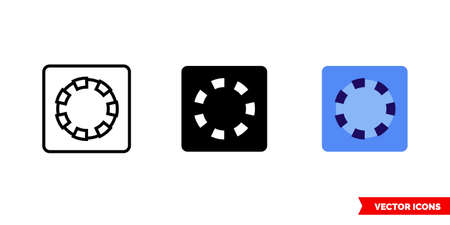 Layer mask icon of 3 types. Isolated vector sign symbol.
