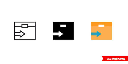 Move stock icon of 3 types. Isolated vector sign symbol. Vectores
