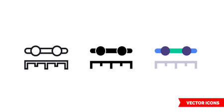 Period slider icon of 3 types. Isolated vector sign symbol. 向量圖像