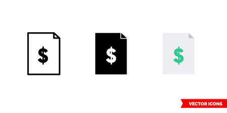 Profit report icon of 3 types. Isolated vector sign symbol. Illusztráció