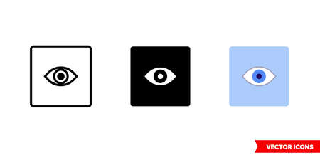 Preview pane icon of 3 types. Isolated vector sign symbol. Çizim