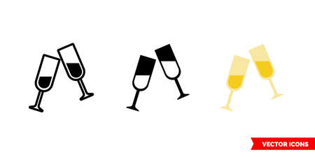 The toast icon of 3 types. Isolated vector sign symbol. Illustration