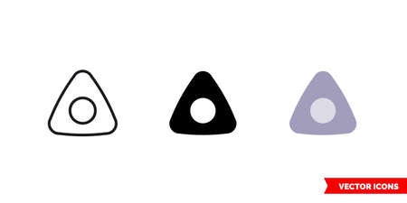 Sewing chalk icon of 3 types. Isolated vector sign symbol.