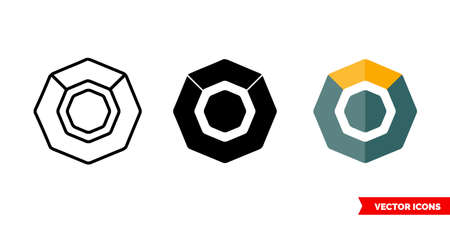 Komodo icon of 3 types color, black and white, outline. Isolated vector sign symbol.