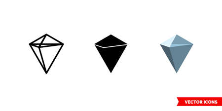 Kucoin shares cryptocurrency icon of 3 types color, black and white, outline. Isolated vector sign symbol.